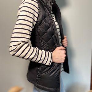 Black down quilted lululemon zipper vest